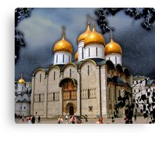 Dormition Cathedral, Kremlin, Moscow Canvas Print