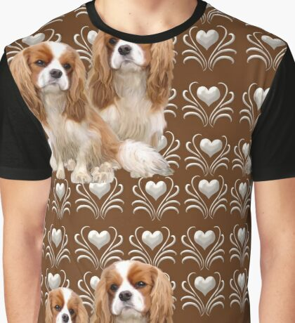 Beautiful Cavalier Spaniel Mother and Puppy Graphic T-Shirt