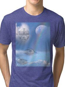 moon beam Tri-blend T-Shirt