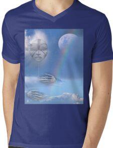 moon beam Mens V-Neck T-Shirt