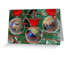 World Christmas card with greetings in many languages Greeting Card