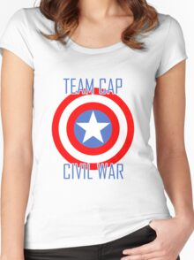 Civil War - Team Cap  Women's Fitted Scoop T-Shirt