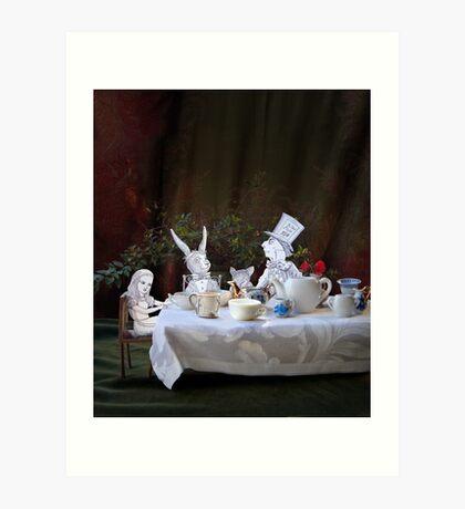 Alice in Wonderland/The Tea Party Art Print