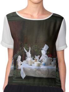 Alice in Wonderland/The Tea Party Women's Chiffon Top
