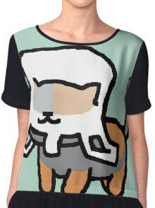 Neko Atsume - Spooky in a Bag Chiffon Top