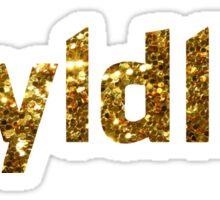 Wyldlife Gold Glitter Sticker