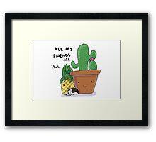 Prickly Pals Framed Print