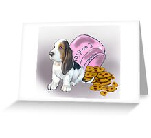 Basset Hound and Cookies Greeting Card