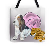 Basset Hound and Cookies Tote Bag