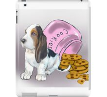 Basset Hound and Cookies iPad Case/Skin