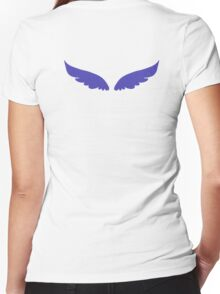 Blue Wings Women's Fitted V-Neck T-Shirt