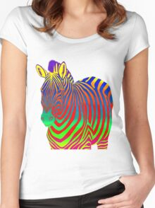 Psychedelic Zebra Women's Fitted Scoop T-Shirt