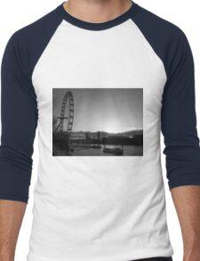 London...London Eye...Thames...blink of a moment...caught it... Men's Baseball ¾ T-Shirt