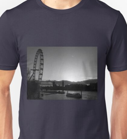 London...London Eye...Thames...blink of a moment...caught it... Unisex T-Shirt