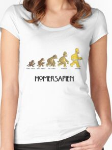 Homer Evolution Women's Fitted Scoop T-Shirt
