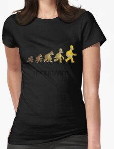 Homer Evolution Womens Fitted T-Shirt