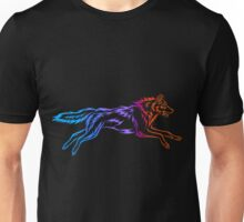 Colorful Tribal Wolf Unisex T-Shirt