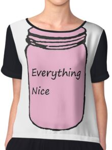 "Pink ""Everything Nice"" Jar Chiffon Top"