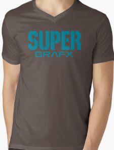 Super Grafx Logo Mens V-Neck T-Shirt