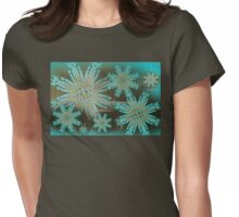 Snow Storm In The Web Of The Ninth Dimension Womens Fitted T-Shirt