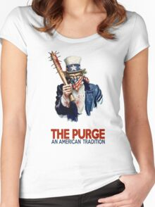 the Purge Women's Fitted Scoop T-Shirt