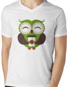 Funny owl who loves coffee. Mens V-Neck T-Shirt