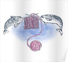 Narwhal Knitting Poster