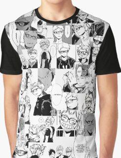 Tsukishima Kei Collage Graphic T-Shirt