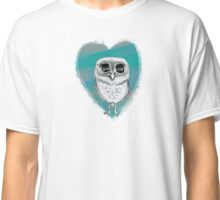 Tiny Elf Owl with Heart Classic T-Shirt