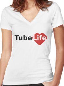 Tube Life Women's Fitted V-Neck T-Shirt