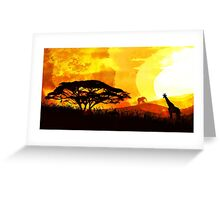 Into Red Depths Greeting Card