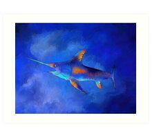 Kauderon V1 - beautiful swordfish Art Print