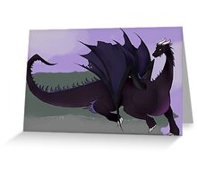 Dragon on a Cliff Greeting Card