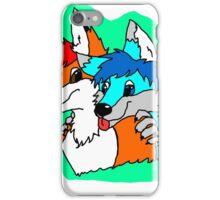 Peek a Boo - Furry Fox and Wolf iPhone Case/Skin
