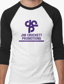 Jim Crockett Promotions Logo Men's Baseball ¾ T-Shirt