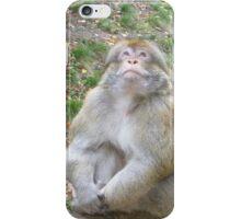 Thoughtful Monkey iPhone Case/Skin