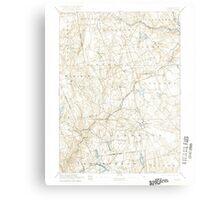 USGS TOPO Map Connecticut CT Gilead 331029 1892 62500 Metal Print
