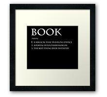 Book Definition Framed Print