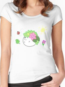 Chubby Sky Warrior (in Land Forme) Women's Fitted Scoop T-Shirt