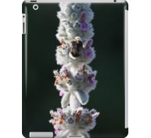macro shot of a bumblebee collecting pollen from the  flower  iPad Case/Skin