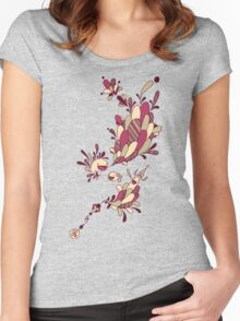Happy Squiggles Women's Fitted Scoop T-Shirt
