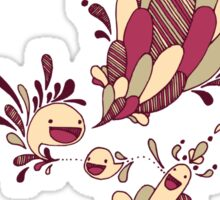 Happy Squiggles Sticker