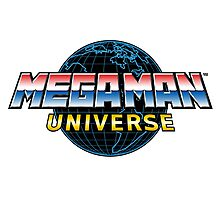 Mega Man Universe Logo Photographic Print