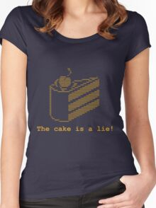 The cake is a lie! (fanart) Women's Fitted Scoop T-Shirt