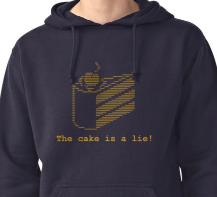 The cake is a lie! (fanart) Pullover Hoodie