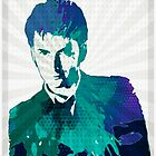 The Tenth Doctor Color Splash  by Alondra