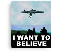 I want to believe xfiles UFO Alien Canvas Print