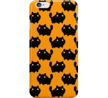 Cartoon Fat Black Cat Pattern iPhone Case/Skin