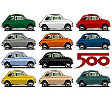Fiat 500 side view Photographic Print