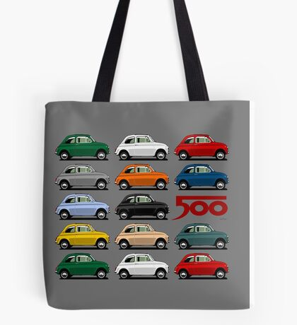 Fiat 500 side view Tote Bag